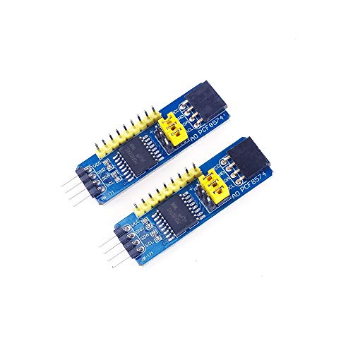 ANGEEK 2Pcs PCF8574 I2C Interface 8-bit IO Expansion Board I/O Expander I2C-Bus Evaluation Development Module