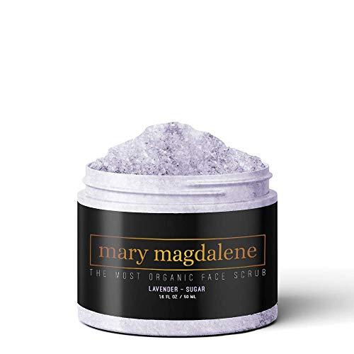 Mary Magdalene Lavender & Sugar Face Scrub - 100% Natural, Moisturizing, Hydrating & Organic – 1.6 Fl Oz Premium Exfoliating Scrub For Men & Women