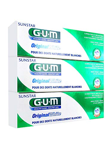 Gum Original White Toothpaste 3 x 75ml by Gum