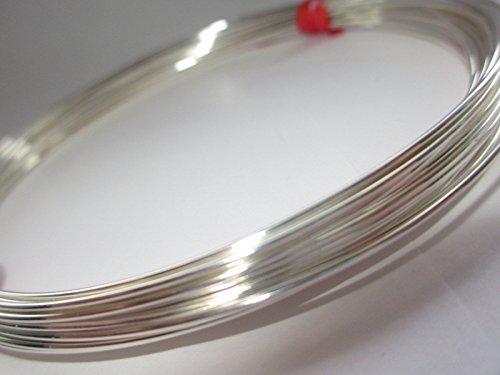 Filo in argento Sterling 925semirigido, a sezione rotonda da 0,4 mm (26 gauge), per creare gioielli, lunghezza 1 m