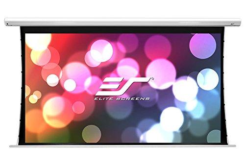 Elite Screens SKT100XHW-E24 Saker Tab Tension Beamer Heimkino Leinwand mit Motor (Format 16:9, 222 x 125 cm, Bilddiagonale: 224 cm (100 Zoll), Tuch, 4K/HD/3D Ready)