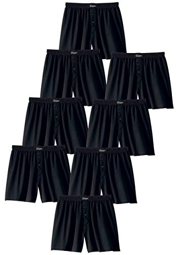 Le Jogger Herren Boxershorts, klassisch weite Boxer, schwarz, 8er Pack (7)