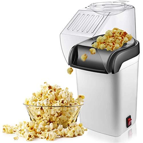 wivarra Machine à Popcorn à Air, Machine à -Corn électrique à Air Chaud-1200W, Prise UE sans Huile