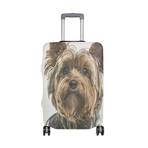 Travel Luggage Cover Yorkshire Terrie Dog Protective Elastic Suitcase Protector Bag 29-32 IN M