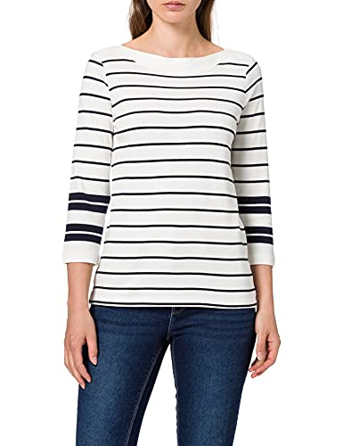 TOM TAILOR Damen 1025276 Striped T-Shirt, 26764-Navy Irregular Stripe, L