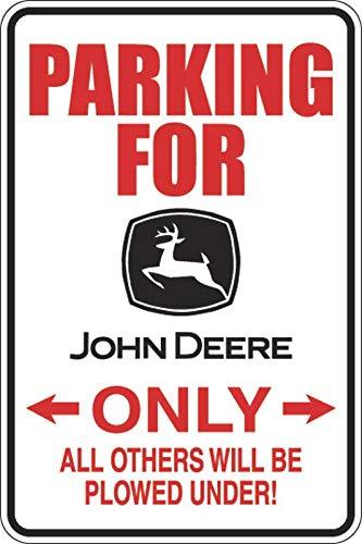 PotteLove Parkeren voor John Deere Alleen Decal Vinyl Sticker Decoratief voor Laptop Koelkast Gitaar Auto Motorhelm Bagage Cases Decor 6 Inch in Breedte
