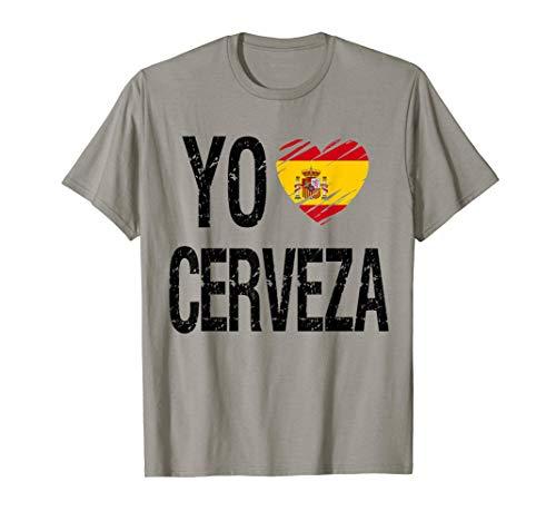 Yo quiero cerveza. Camiseta de cerveza España Camiseta