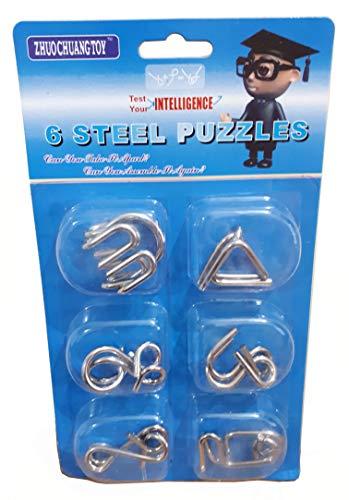 Quebra Cabeça de Metal Enigma 6 Modelos - Stell Puzzle