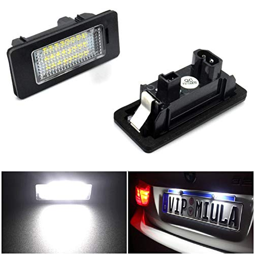 2 luces para matrícula de coche para B MW 1 3 5 X Series sin errores 3W 24 LED blanco luz trasera para matrícula, luz de repuesto directo X5 X6 M3 E39 E60 E70 E71 E82 E90 E92
