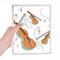 ヴァイオリン音楽楽器のパターン 硬質プラスチックルーズリーフノートノート