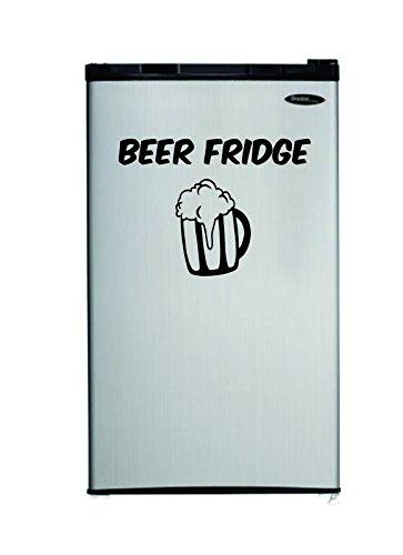 Slap-Art Beer Fridge refridgerator Funny Vinyl Decal Sticker Man cave Garage Mini Small Drink Men