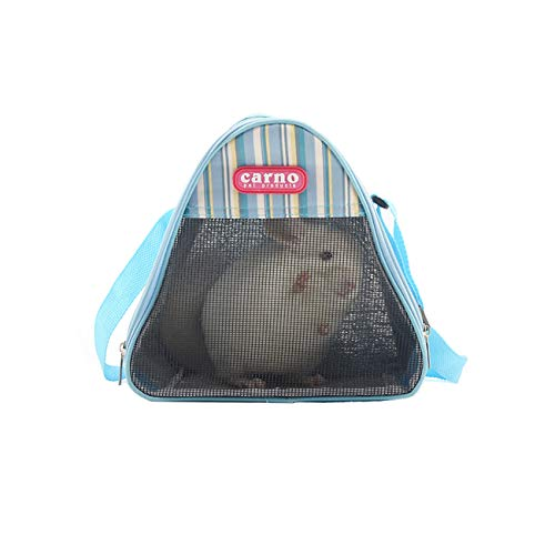 Bolsa de transporte para hámster transpirable y portátil para hámster, rata, erizo, chinchilla, hurón, mochila, saco de dormir para colgar