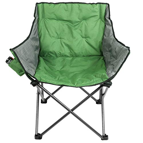 PORTAL Case of 500 Packs,Extra Large Folding Camping Sofa Chair with Cupholder Green