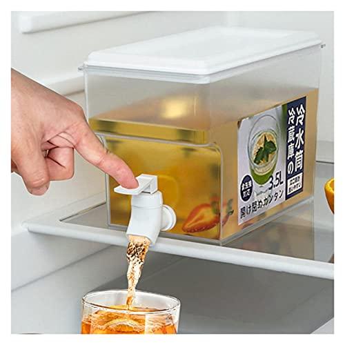 Hervidor de Agua fría con Grifo, Jarra de Agua de Gran Capacidad en el refrigerador, Barril de Agua, Utensilios de Cocina, hervidor, Recipiente para Botella de Agua fría