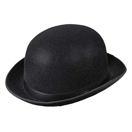 Boland 04002 - Hut Für Erwachsene Antoine, Melonenhut, Schwarz, Gangster, 20er Jahre, Kopfbedeckung, Accessoire, Mottoparty, Karneval