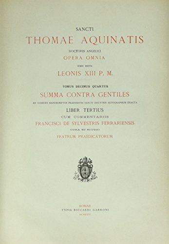 Opera Omnia - tome 14 Summa contra gentiles (14)