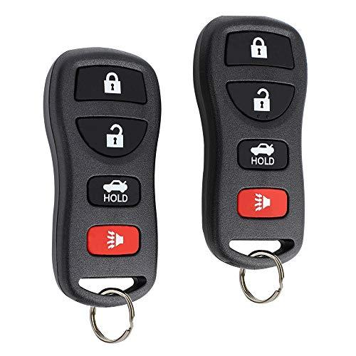 YORKING Keyless Entry Remote Key Fob Car Replacement 4 Button for KBRASTU15, CWTWB1U758, CWTWB1U821 Fits Nissan Infiniti 2 Pack