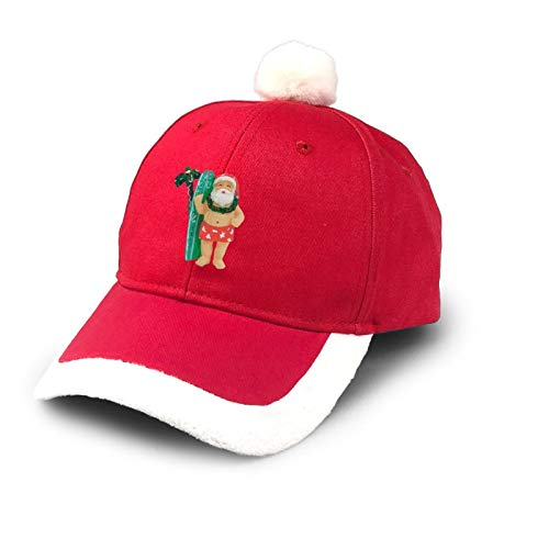 allgobee Trucker Hat Hawaiian Surfing Santa Christmas Christmas Hat Cotton Baseball Dad Cap Santa Hat Costume Red
