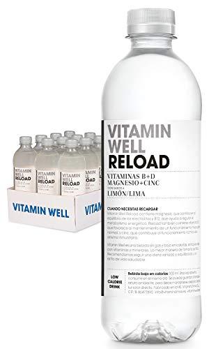 VITAMIN WELL RELOAD 12 x 500ml Una alternativa moderna, más sana y refrescante que los refrescos y zumos azucarados