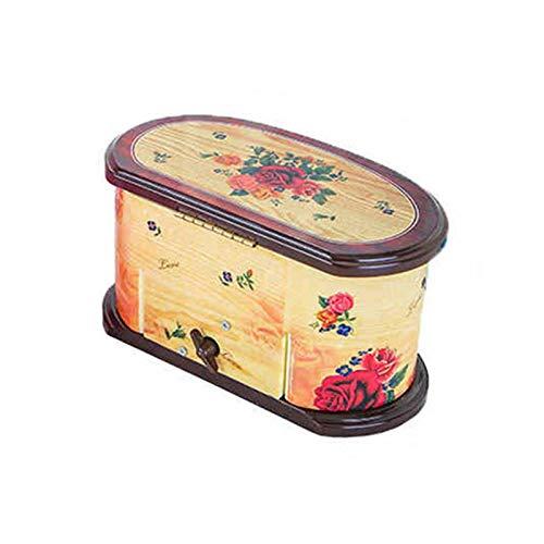 qianele - Caja musical para bailarinas, caja de música con almacenamiento, diseño de princesa, cajones extraíbles, elegante contenedor organizador para niñas pequeñas, dos colores