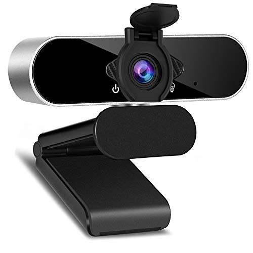 1080P Webcam, HD Webcam with Microphone USB Computer Camera with Wide Angle for Video Calling Conferencing Recording, Web Camera for Laptops, Desktop and Gaming