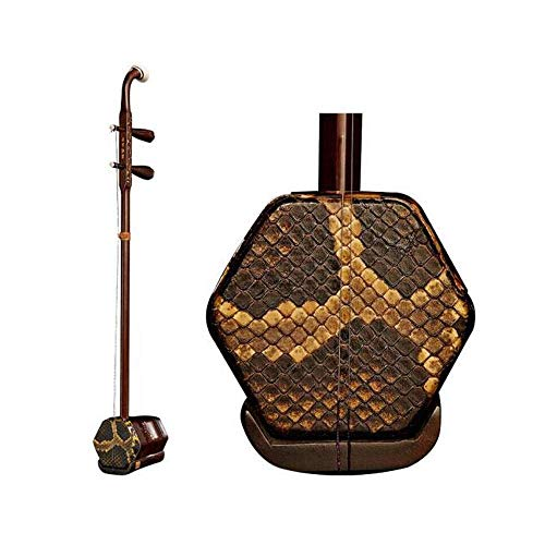 Erhu, Alt mahagonifarben Erhu Musikinstrument, Erwachsener Erhu, rote Eisen-Pea-Material Fliegen-Blumen-Punkt-Grün Instrument, nationale Musikinstrument (Farbe: Alte Mahagoni) HUERDAIIT