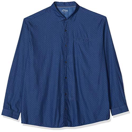 s.Oliver Big Size 15.911.21.7150 Camicia, Blu (Medieval Blue 5865), XXX-Large Uomo