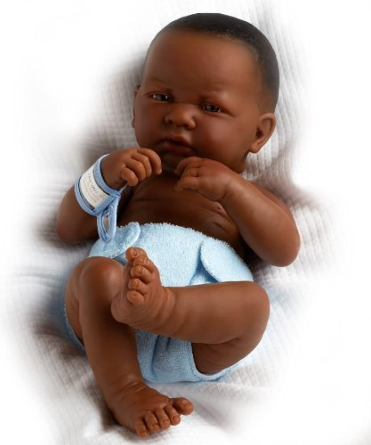 JC Toys La Newborn African American- Real Boy by JC Toys Group, Inc. TOY (English Manual)