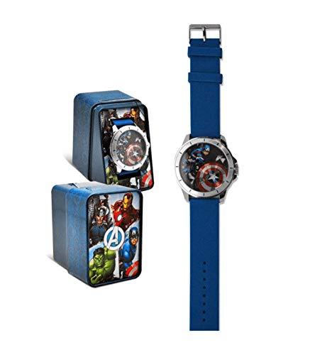 Kid Licensing- Reloj ANALOGICO Avengers Aprendizaje, Color (Multicolor) (MV15785)