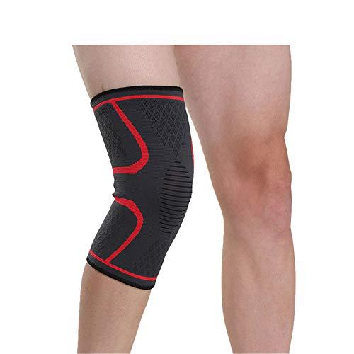 Fablcrew 1 stück rutschfeste Kniebandage elastisch Knieschoner für Damen, Herren Kinder, schützt Kniegelenk Meniskus, rechts und Links tragbar (M)