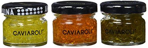 Caviaroli - Trio Encapsulado con Arbequina, Guindilla y Albahaca - Estuche - 3x20 g