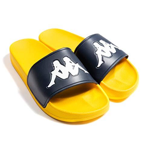 Kappa 222 Banda Adam 2 Unisex Athleisure Sports Lifestyle Slides (Blue Indigo-Yellow, 9)
