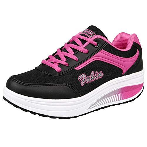 Riou-Stiefel Damen Laufschuhe Mesh Atmungsaktiv Wasserdicht Turnschuhe Outdoor Running Fitness Sportschuhe Schnürer Lässige Schuhe