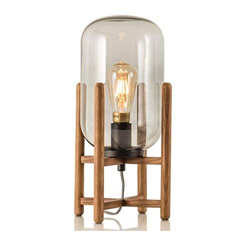GYW-YW Lámpara de mesa de noche Iluminación decorativa, Reading lámpara- de noche y lámparas de mesa caliente de la lámpara lámpara de mesa retro moderno minimalista pantalla de cristal lámpara de cab