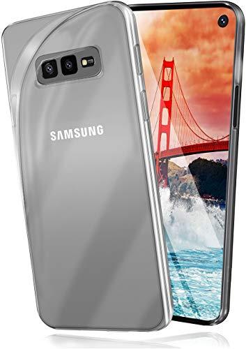 moex Aero Hülle kompatibel mit Samsung Galaxy S10e - Hülle aus Silikon, komplett transparent, Klarsicht Handy Schutzhülle Ultra dünn, Handyhülle durchsichtig einfarbig, Klar
