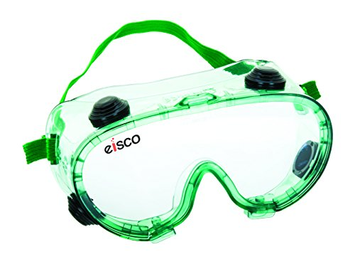 EISCO Premium Safety Goggles, Chemical Resistant, With Anti-Fogging Indirect Vents, Universal Fitting Over Prescription Glasses, Meets Safety Standards, Perfect For Laboratory Or Outdoor Use