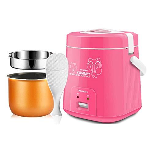 GXLO Food Steamer Technologie avancée Mini 1.8L Cuisinière à Riz pour Cuisine dortoir Cuisine Cuisson Vapeur Vapeur pour Soupe Porridge Riz cuit à la Vapeur Digital et Portable,Rose