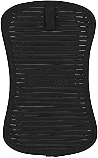 All-Clad Textiles Heavyweight 100-Percent Cotton Twill and Silicone Pot Holder, Black by All Clad Textiles