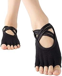 SGJFZD 3pairs/Set Ladies Thong Yoga Socks Five Finger Socks Double Cross with Anti-Slip Socks Floor Socks Dance Socks, Color Randomly Sent (Color : Random)