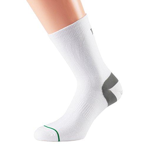 1000 Mile Herren Lauf 1177 Tactel Socks, Weiß, M