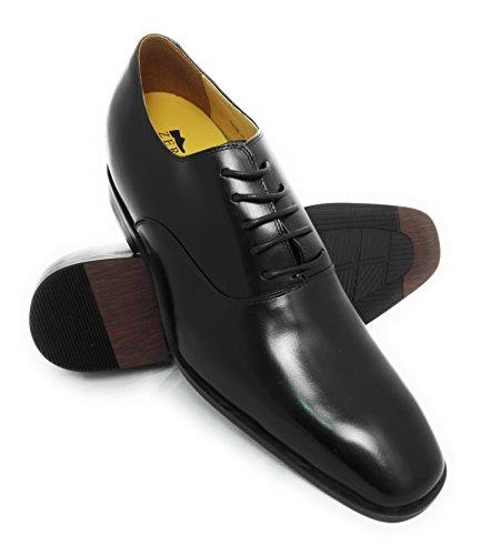 Zerimar Schuhe für Männer Erhöhen auf Unsichtbare Weise Ihre Körpergrösse, Höhe Steigerung, Versteckter anhebender Ferse, Erhöht Ihre Höhe bis zu + 7 cm Farbe Schwarz Größe 39