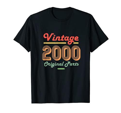 20º Cumpleaños Vintage Mujeres Hombres de 20 años Regalos Camiseta