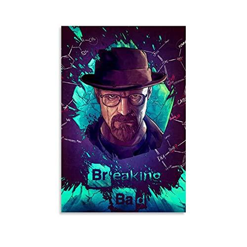 Póster de la serie de televisión clásica Breaking Bad Walter White 6 de Breaking Bad Walter con impresión de cuadro moderno para decoración de dormitorio familiar de 50 x 75 cm