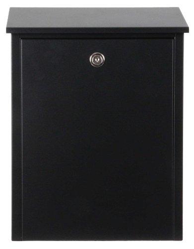 Qualarc Allux 200 Wall or Post Mount Locking Galvanized Steel Mailbox in Black