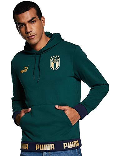 PUMA FIGC Ftblculture Hoody, Felpa Uomo, Ponderosa Pine Team Gold, L