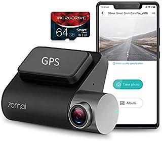 """Câmera 70mai PRO + [Módulo GPS] + [Cartão 64GB] Xiaomi Dash Cam, Câmera para Carro, 1944P, Tela de 2""""LCD WDR, Visão Noturn..."""