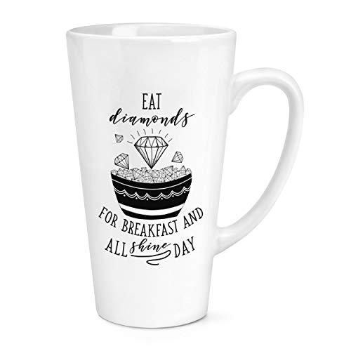Manger Diamants pour Petit Déjeuner 17oz Grand Tasse à Café Latte Tasse