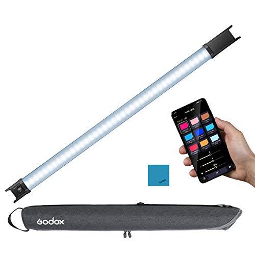 Godox TL60 RGB Tube Light con control APP DMX, Varita de luz para fotografía RGB a todo color CRI96 360 con batería y cable de alimentación, Barra de luz de video LED bicolor regulable