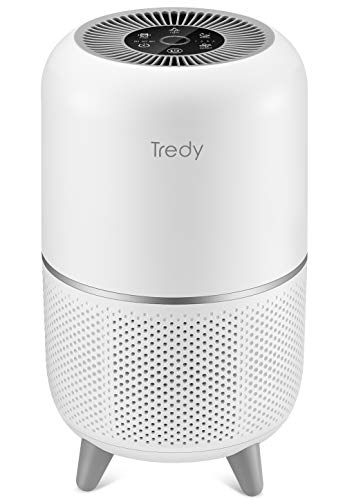TREDY HEPA Air Purifier for Home 200 Sqft Large Room with Air Quality Sensor, Filters Indoor Air and Removes Smoke/Dust/Odor/Pollen/Pets Dander