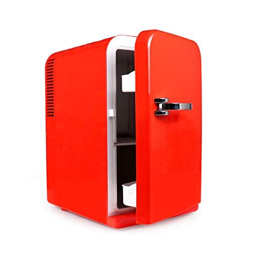 Mini Kühlschrank, 4 Liter Mini Household Small Cosmetics Medicine Kühlschrank für gekühlte Autos, für EIN frisches Büroessen (Rot)